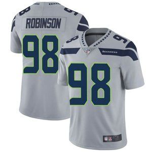 Seahawks Alton Robinson Gray Jersey